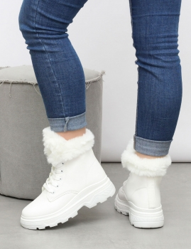 Botins Cotton - Branco