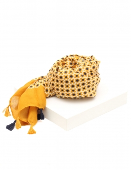 Lenço Pompom - Amarelo