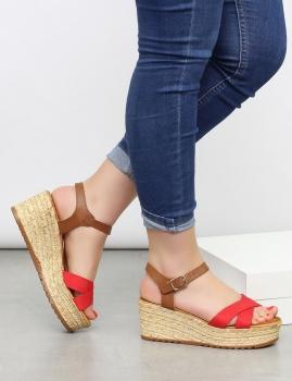 Sandálias Ticia - Vermelho
