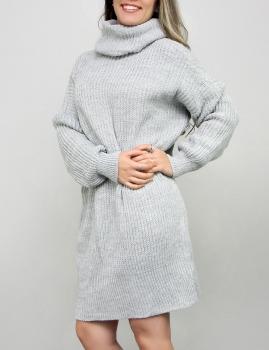 Vestido Tita - Cinza