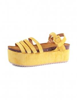 Sandalias Bambau- Amarelo