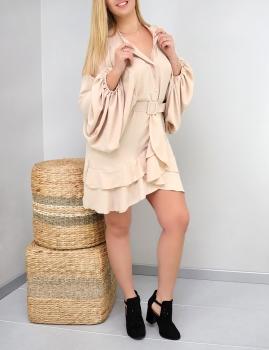 Vestido Rafaela - Bege