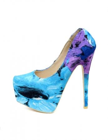 Sapatos Jackelin - Azul