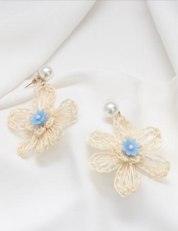 Brincos Flower - Azul