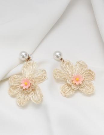Brincos Flower - Rosa