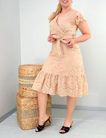 Vestido Zariele - bege